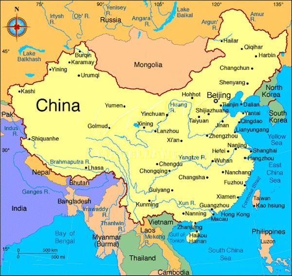 Карта китая поможет вам лучше узнать